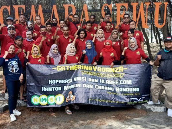 Gathering Vaganza Day Koperasi NMSI dan Klabee.com kantor Madiun dan cabang Bandung